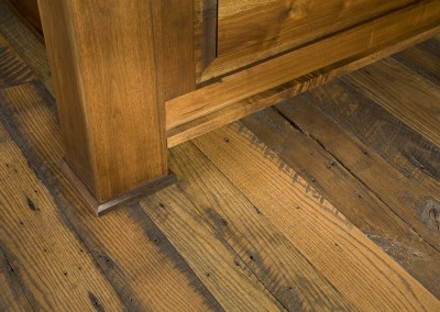 Reclaimed Red and White Oak wood flooring