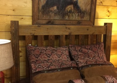 Old Wood Bed Picture Frame