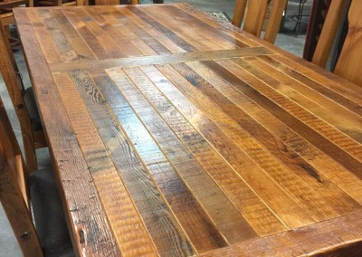Old Wood Rectangle Table
