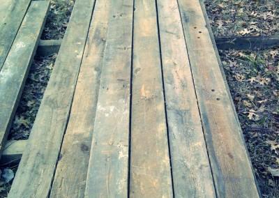Reclaimed wood samples