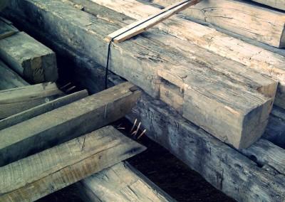 Reclaimed wood studs