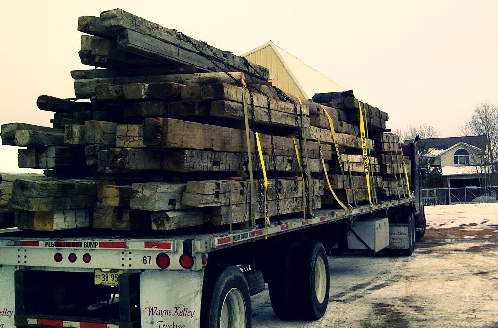 Reclaimed wood transportation: our trucks and our care