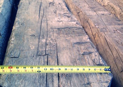Measuring bigger reclaimed wood pieces