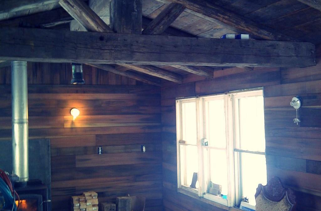 House foundation reclaimed wood