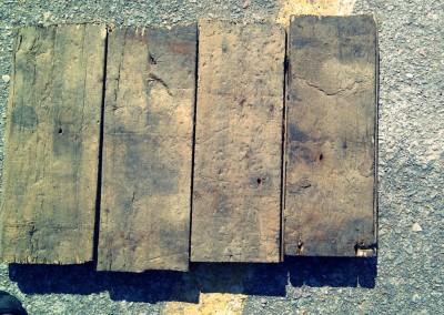 Reclaimed wood flooring sample