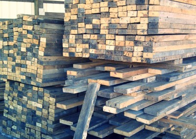 Big reclaimed wood pile