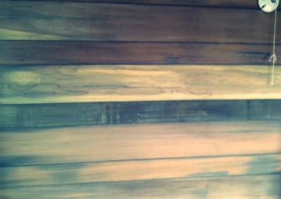 Reclaimed wood house walls