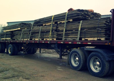 Transporting reclaimed wood