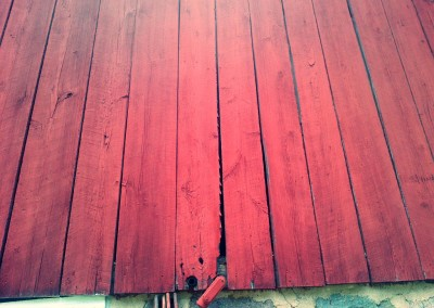 Red Reclaimed wood wall