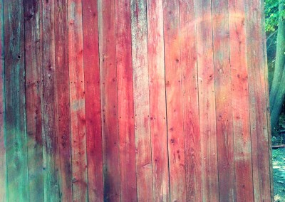 Red reclaimed wood