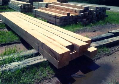 Reclaimed wood piles