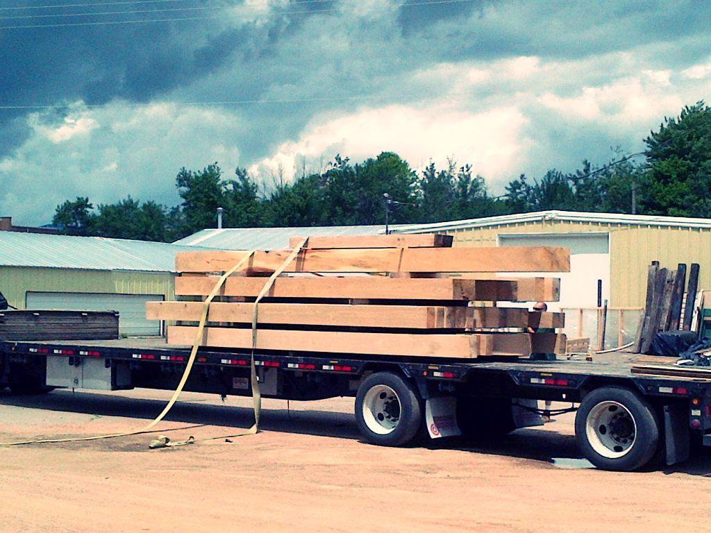 Reclaimed wood log