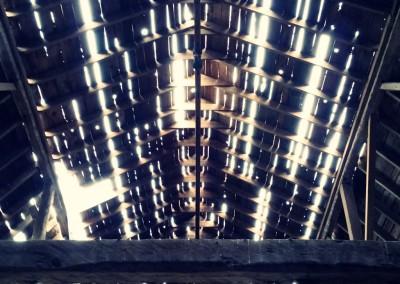 Antique barn ceiling