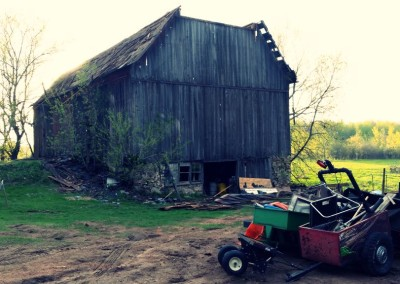 Old barn standing