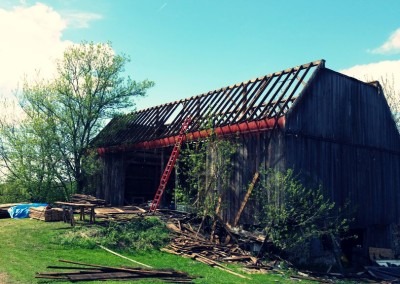Old barn with no roof
