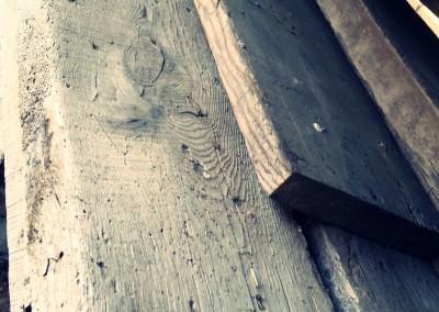 Reclaimed wood pile
