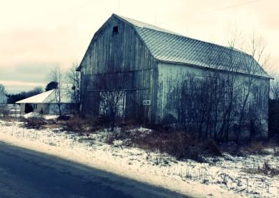 Old barn, side look